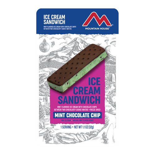 Mountain House Mint Chocolate Chip Ice Cream Sandwich (Case of 12)
