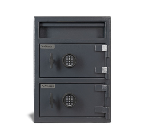 American Security MM2820Top-Drop-E15 Top Drop Two Door Cash Management Safe