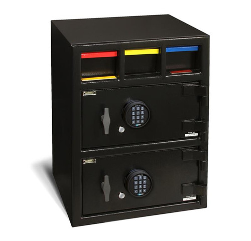 American Security MM28203-Drop-E15 Drop Drawer Two Door Cash Management Safe