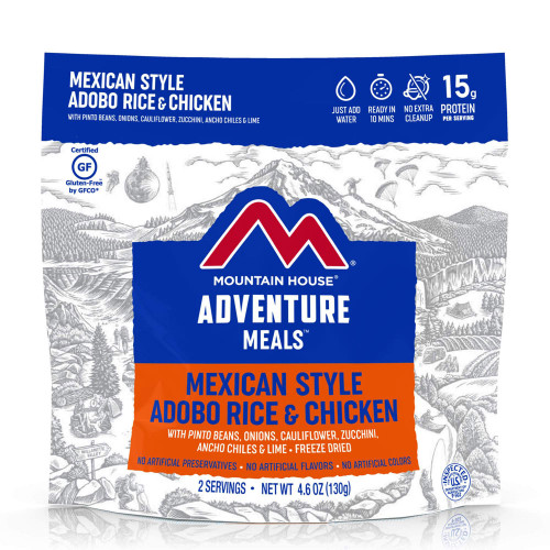 Mountain House Mexican Adobo Rice & Chicken (Case of 6 Pouches)