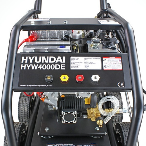 Pressure Pump Solutions: Shop Now & Buy Hyundai Diesel Pressure Washer HYW4000DE, Impressive Cleaning Power Washer, Buy Now for less, Speedy Free Delivery, 3 Year Warranty, Great Service