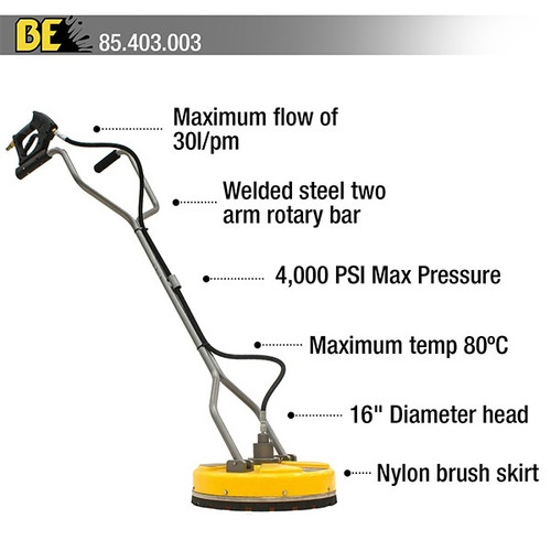 """BE Pressure Whirlaway 16"""" Rotary Surface Cleaner"""