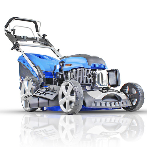 """The Hyundai 20""""/51cm 196cc Electric-Start Self-Propelled Petrol Lawnmower is a top rated electric start walk-behind mower for larger gardens"""