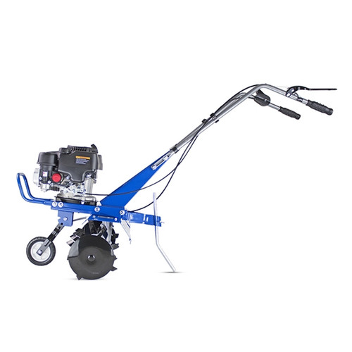 Hyundai 2.7kW 150cc 4-Stroke Petrol Garden Tiller, Cultivator, Rotovator and Rototiller. Suitable for preparing seeding beds, and vegetable patches. Powered by the 150cc hp, 4-Stroke Hyundai OHV petrol engine.