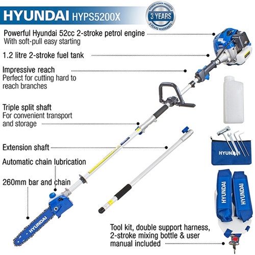Pressure Pump Solutions: Shop Now for Long Reach Petrol Pole Saw, Chainsaw HYPS5200X. Buy Lawn and Power Equipment. Low Prices, Free UK Delivery, 3 Year Warranty, Excellent Customer Service.