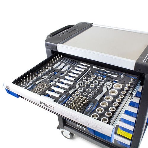 Hyundai  305 Piece 7 Drawer Caster Mounted Roller Tool Chest Cabinet | HYTC9003