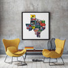 Fort Worth | Texas Shaped Photomontage Print