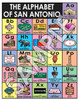 San Antonio Icons | Texas Alphabet Print | Texas Photomontage
