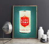 Lone Star | Beer Can Print