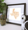 if lost return here, ut canvas, burnt orange,