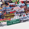 Fort  Worth Photomontage Scarf  | 100% Cool Voile | Scarf Bandana | Texas