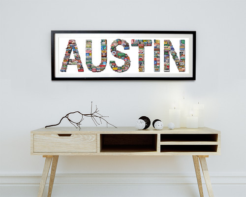 austin texas art icons landmarks signs old austin sort of cool art texas photomontage carl walker crum art artists gallery austin shopping gift memorabilia