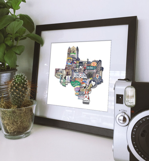 texas shaped art, texas art, texas print, lone star art, Austons texas art, texas wall art, marfa texas art, texas longhorn wall art, houston texas art, texas framed art, texas gifts, texas gift baskets, texas themed gifts, texas gift shop, austin texas gifts, texas christmas gifts, made in texas gifts,  texas gift store, funny texas gifts, texas gifts houston, texas gifts amazon, texas highways gift shop, texas state capitol gift shop, university of texas gift shop, university of texas gifts, gifts for texas lovers, texas baby gifts, moving to texas gift ideas. texas gift connection, texas novelty gifts, fort worth art, texas art, dallas art, houston art, san antonio art, local artist, local texas artist, carl crum, betsy crum, sort of cool art, fort worth texas artist