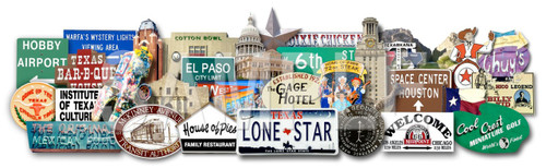 3d texas art carl crum sort of cool photos mounted on metal texas landmarks austin fort worth 3D