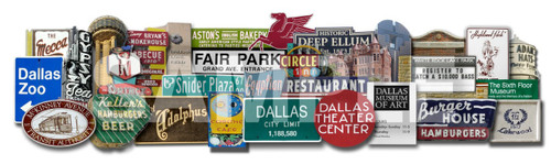 carl crum, carl walker crum, dallas skyline, pegasus dallas, mobil horse dallas, 3d art, texas gift, reunion tower, sonny bryants bbq, burger house, the mecca, kellers hamburgers, Dallas Texas Signs and Landmarks Favorites 3D on Metal  Carl Walker Crum Cool Art dallas texas art local art shopping galleries artists bishop arts district dallas horse sign uptown museums festivals deep ellum arts festival