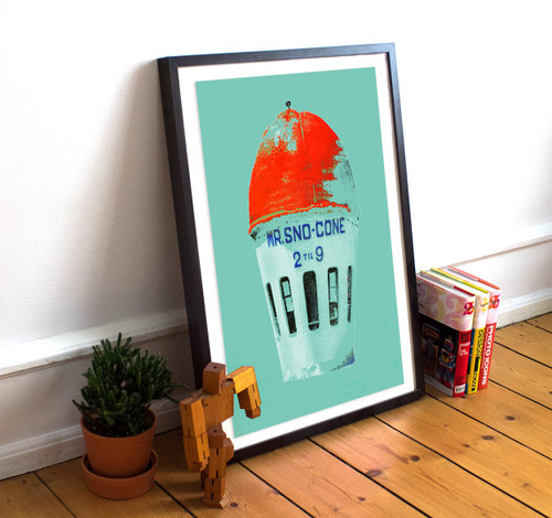Fort Worth | Sno Cone Print | Texas Art