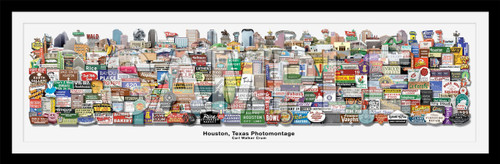 houston texas signs landmarks icons iconic houston carl walker crum signs and landmarks houston gallery art artists gift shop houston gift shop poster print art photography old houston betsy crum cool art texas pop art best artists in texas