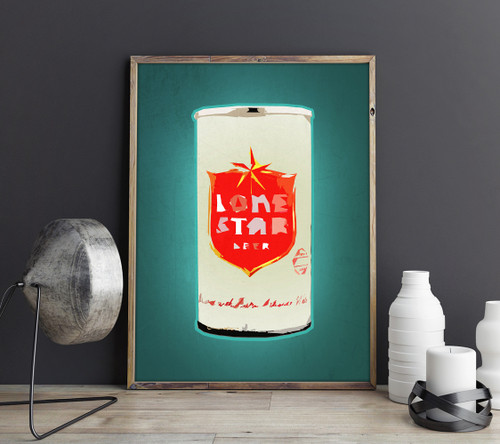 lone star beer art, beer can collection, vintage beer guy gift texas beer texas craft beer is lone star beer any good lone star beer made guy gift for him dad gift texas guy gift texas art prints gifts cool texas art betsy crum colorful art art for mancave
