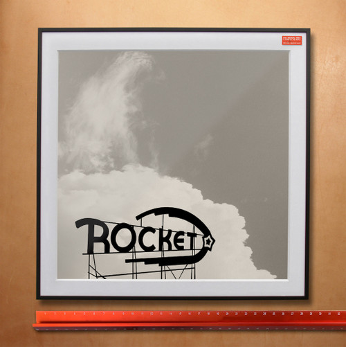 Rocket Lounge Sign | Fort Worth Art Print
