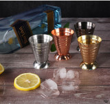 Cocktails jiggers available in different colours such as rose gold, gold, silver and gunmetal black