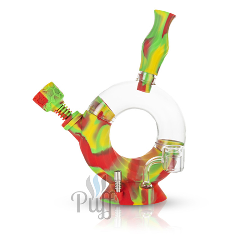 Ooze Ozone Silicone Water Pipe & Nectar Collector - Rasta