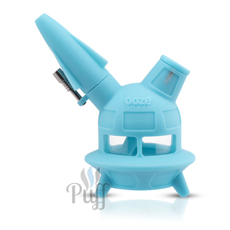 Ooze UFO Silicone Water Pipe and Nectar Collector - Aqua Teal