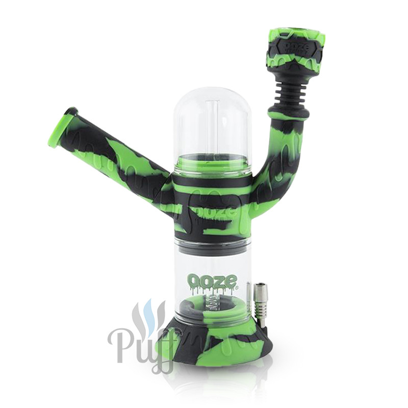 Ooze Cranium Silicone Water Pipe & Nectar Collector - Chameleon