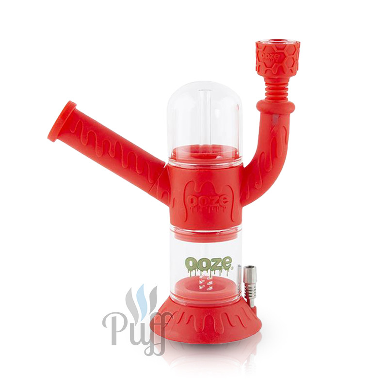 Ooze Cranium Silicone Water Pipe & Nectar Collector - Scarlet
