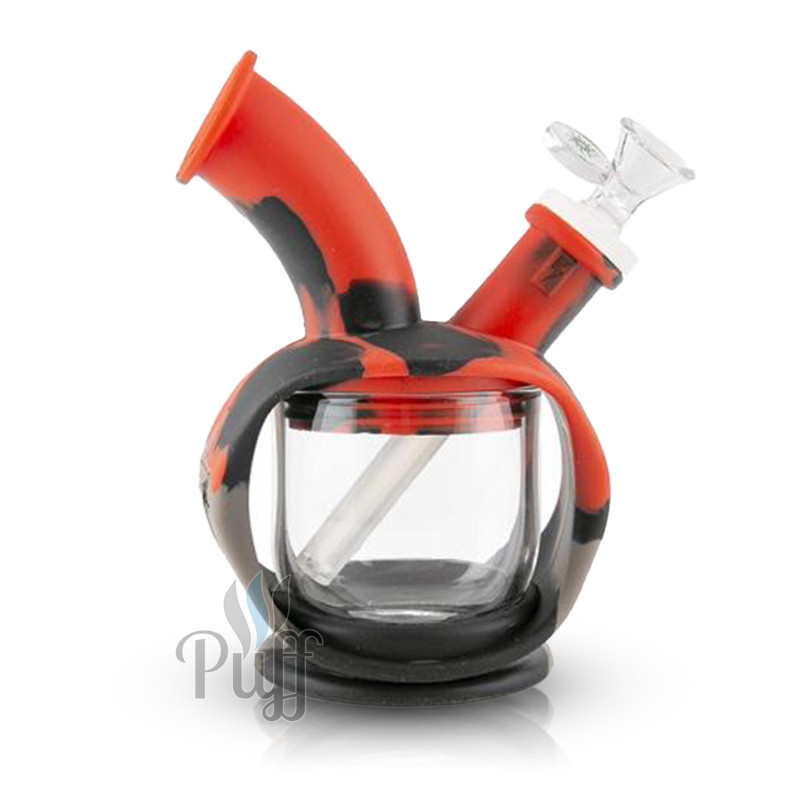 Ooze Kettle Silicone Bubbler - Black Grey Red