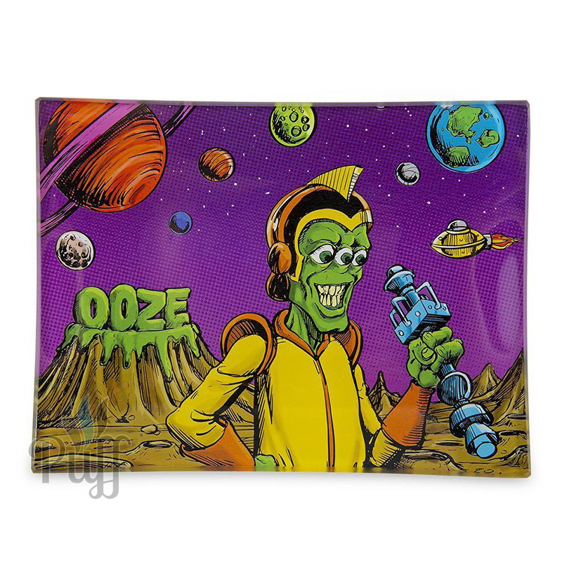 Ooze Shatter Resistant Glass Rolling Trays - Invasion