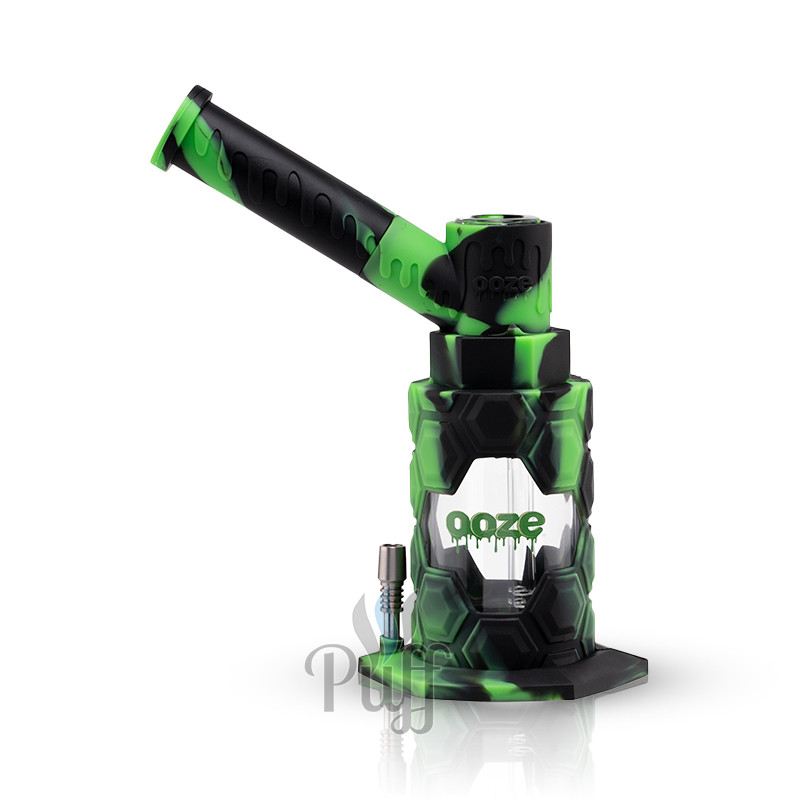 Ooze Mojo Silicone Water Pipe & Nectar Collector - Chameleon