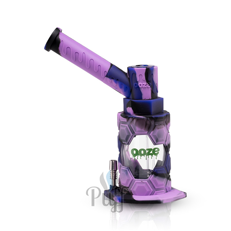 Ooze Mojo Silicone Water Pipe & Nectar Collector - Mystic Ink