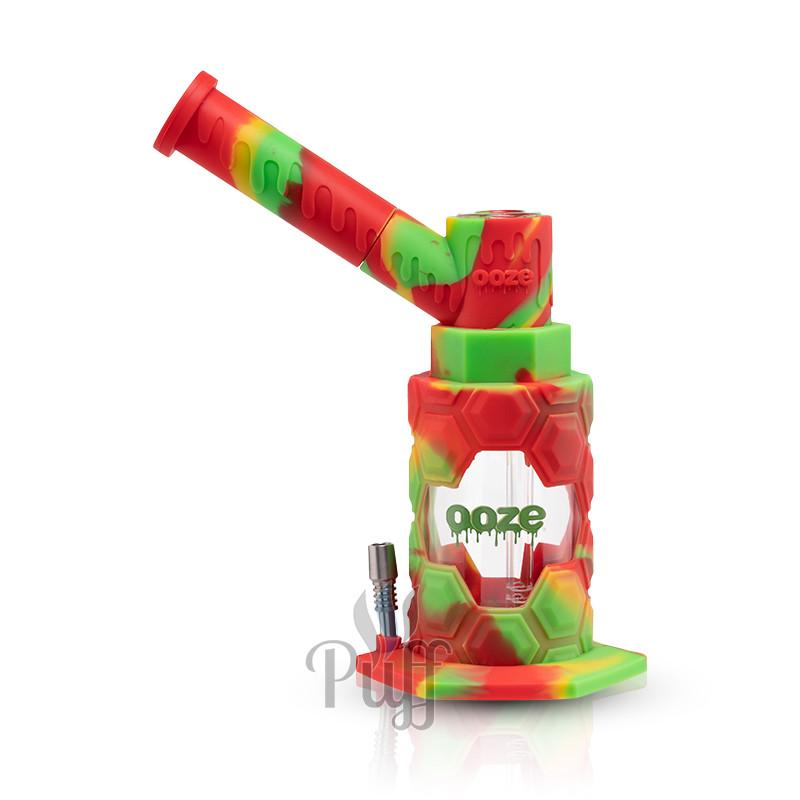 Ooze Mojo Silicone Water Pipe & Nectar Collector - Rasta