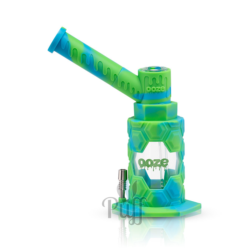 Ooze Mojo Silicone Water Pipe & Nectar Collector - Spring Rain