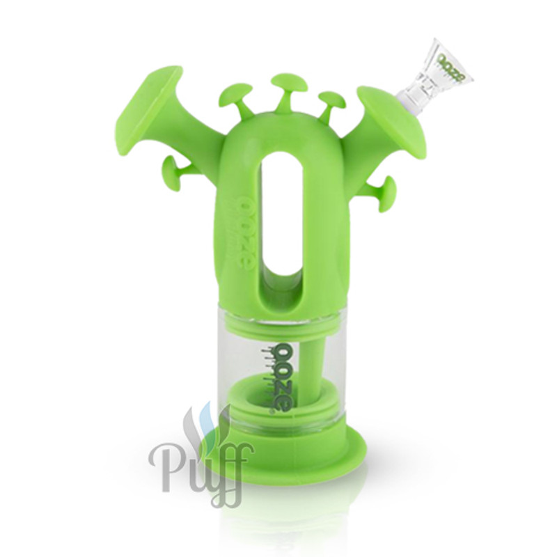 Ooze Trip Pipe Silicone Bubbler - Green