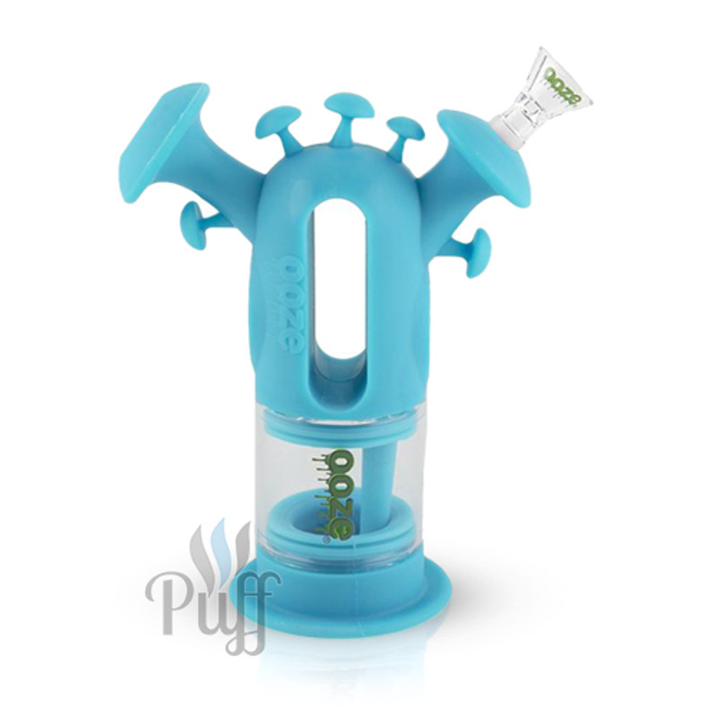 Ooze Trip Pipe Silicone Bubbler - Teal