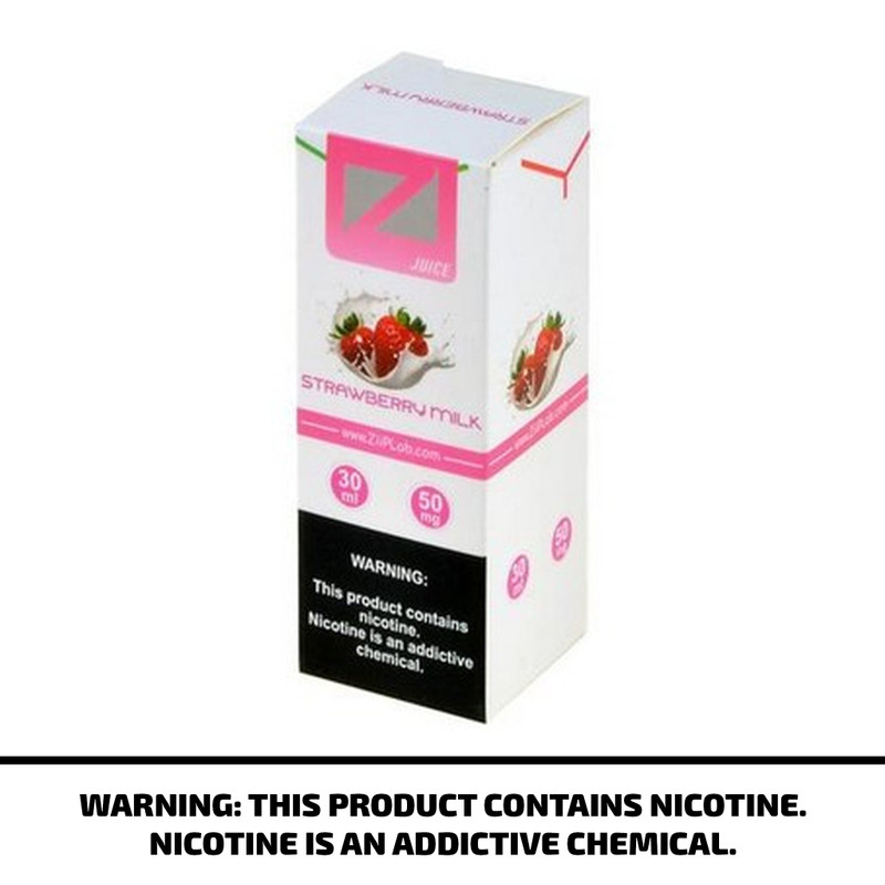 Ziip Lab Nicotine Salt E-Liquid Strawberry Milk 30ml