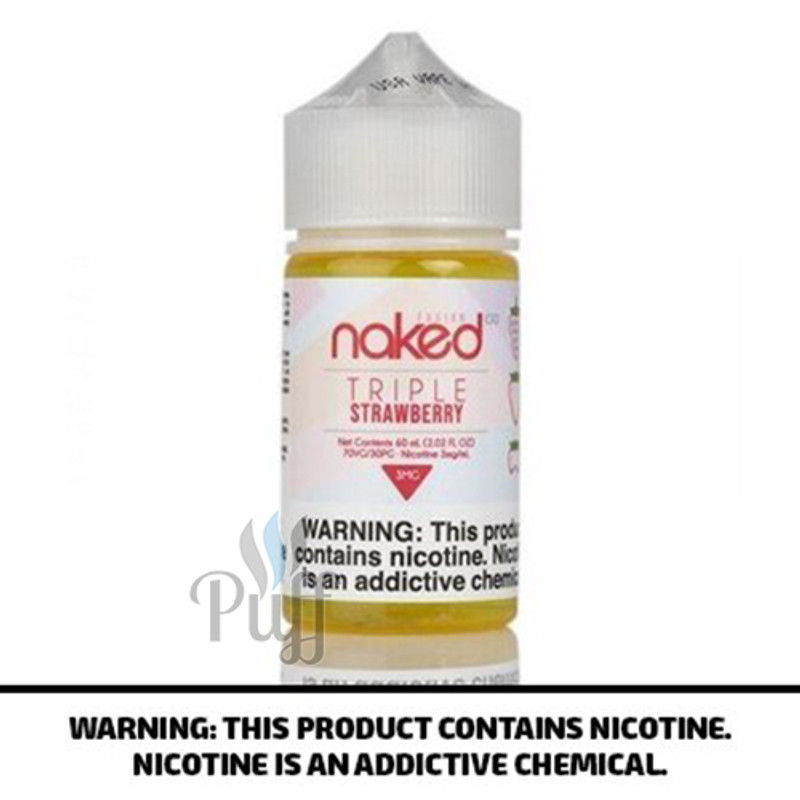 Naked 100 Fusion E-Liquid Strawberry/Triple Strawberry 60ml
