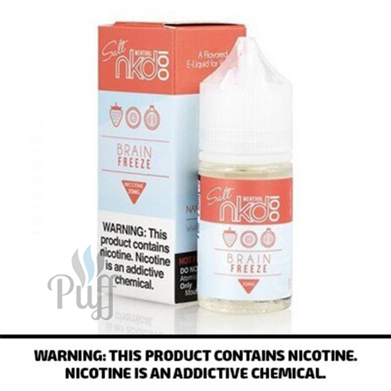 NKD 100 Salt E-Liquid Strawberry Pom/Brain Freeze 30ml