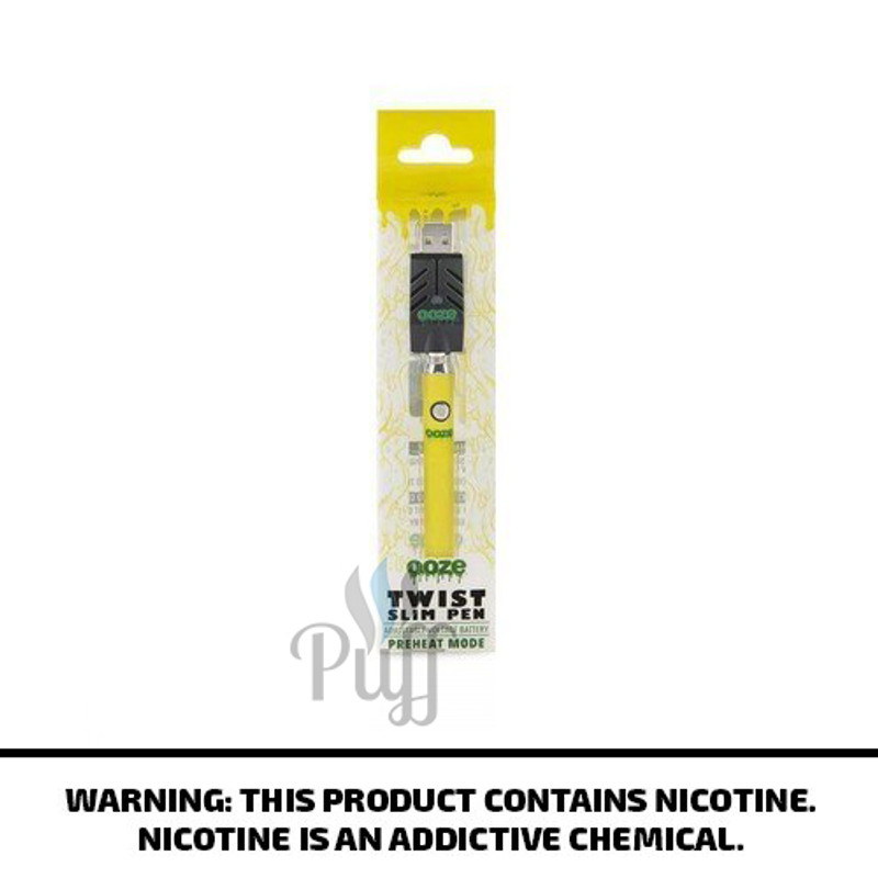 Ooze Slim Pen Twist - Yellow