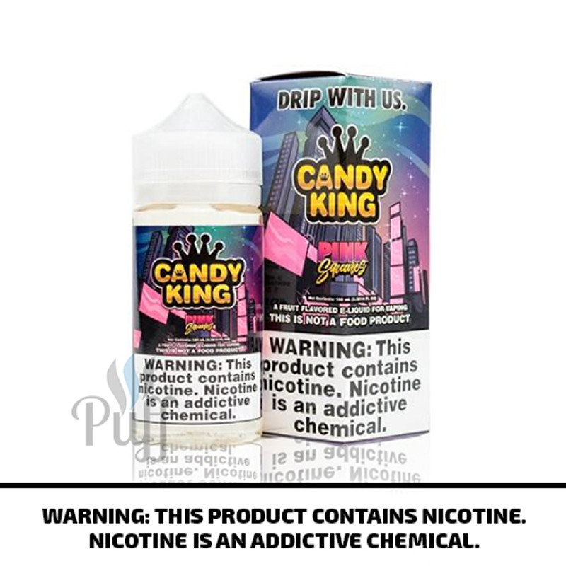 Candy King E-Liquid Pink Squares 100ml