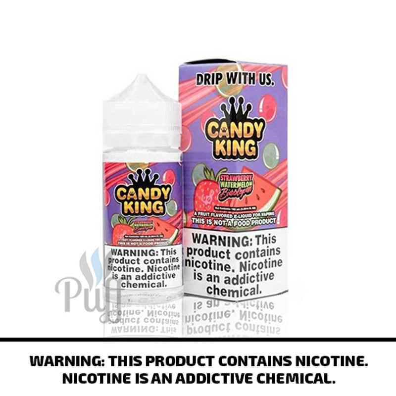 Candy King E-Liquid Strawberry Watermelon Bubble Gum 100ml