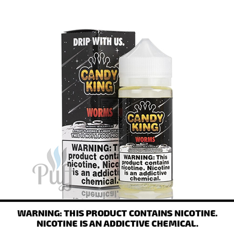Candy King E-Liquid Worms 100ml
