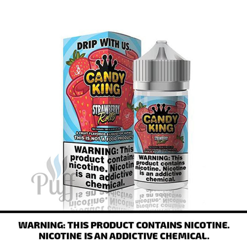 Candy King E-Liquid Strawberry Rolls 100ml