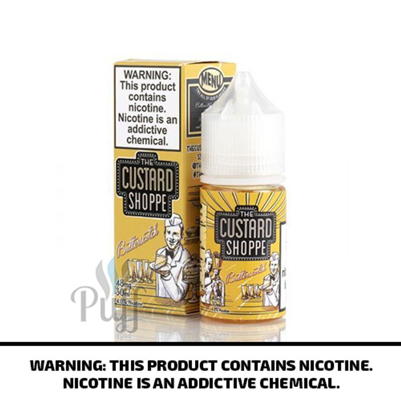 The Custard Shoppe Salts Butterscotch 30ml