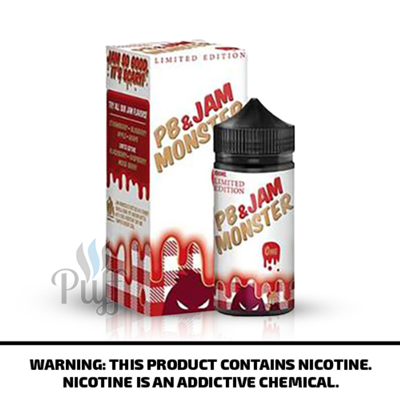 Jam Monster E-Liquid PB & Jam Strawberry 100ml