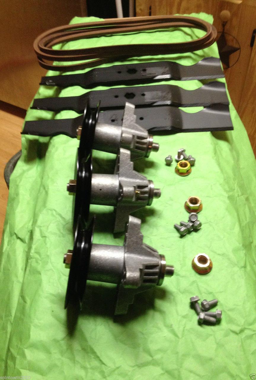 Deck Rebuild Kit Blade Spindle Belt Idler MTD Cub Cadet RZT L50KH L50KW 50 Inch