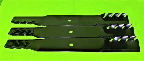 "Set of 3 OEM Husqvarna 21"" Gator Tooth 1.2 Lift Blades fits PZ60 522936601"