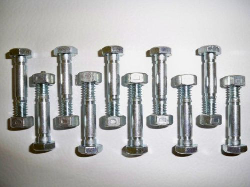10 Pack, Shear Pins and Nuts, Replaces Ariens 532005, 53200500, 05907100,532-005