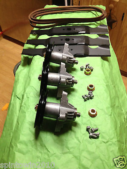 "Cub Cadet MTD SLT 1554 SLTX 1054 54"" Deck Rebuild Kit Blades Spindles Belt"